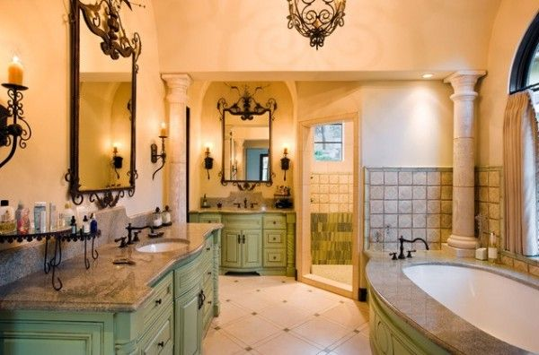 Tuscan Bathroom With Light Green Color Tuscan Style Bathrooms Pin