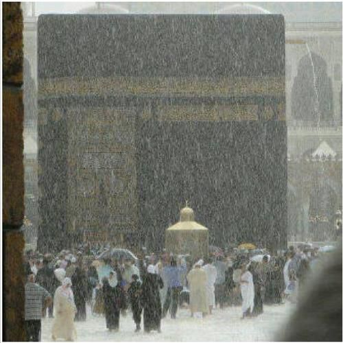 La ka'ba sous la pluie