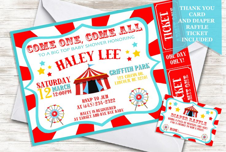 Circus Baby Shower Invitation Sprinkle Invite 5x7 Digital Party Themed Carnival by TwoHeartsInvitations on Etsy https://www.etsy.com/listing/470593405/circus-baby-shower-invitation-sprinkle
