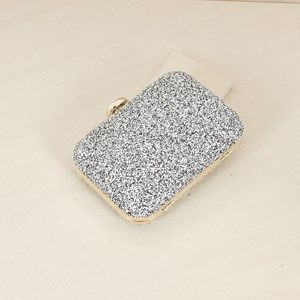 Hundreds & Thousands Glitter Structured Clutch