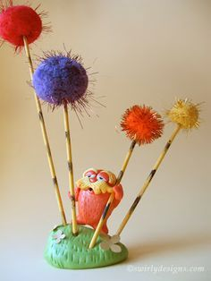 Be Green and make your own LORAX!  Great tutorial !!