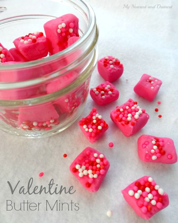 Valentine Butter Mints. Melt in your mouth delicious! They make a pretty little homemade Valentine for that special someone.