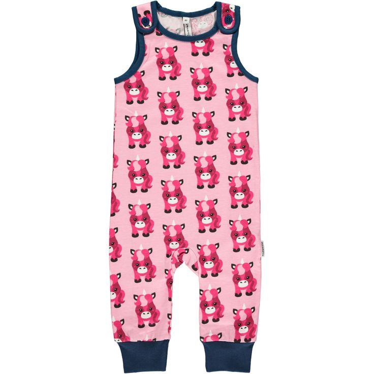 Unicorn Playsuit from Maxomorra. Made from GOTS Certified Organic Cotton. Available at Modern Rascals.
