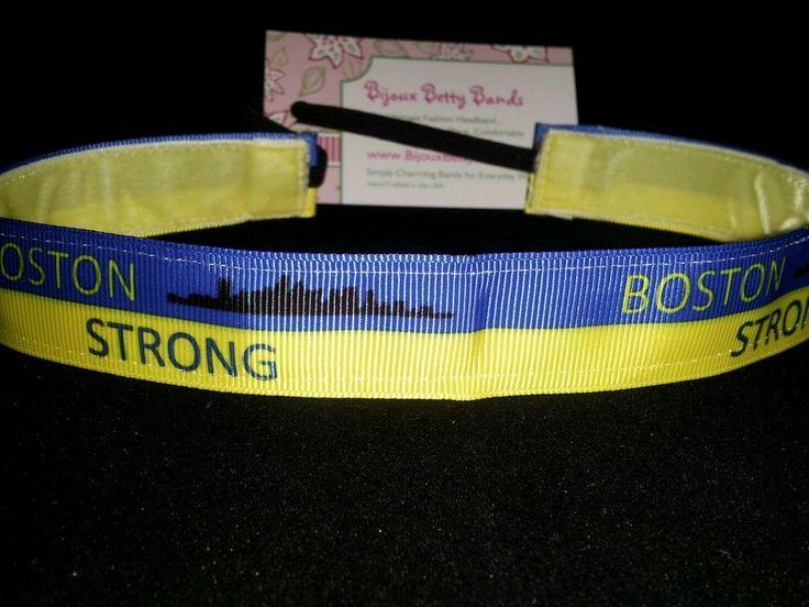 Headband Sweat& Band Boston Strong - Bijoux Betty Bands - Non-Slip Headbands #BijouxBettyBands