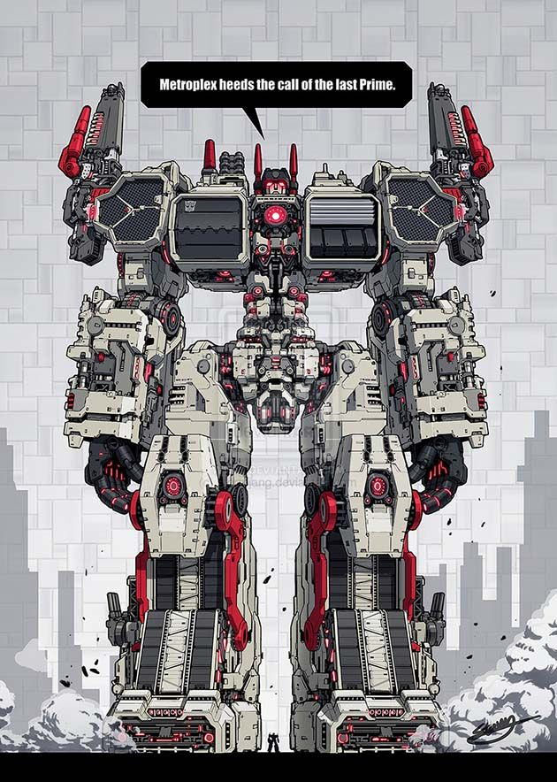 Metroplex - Wow...to be honest with Prime at this big guy's feet, it's a real good perspective on how huge Metroplex REALLY is. My mind is still being boggled...