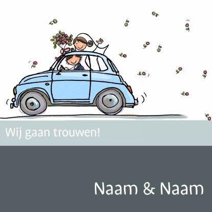 Wedding Invitation / Trouwkaart by Anet van de Vorst www.kaartje2go.nl