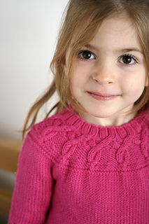 """Project on Ravelry. """"Doodad"""" pattern by Justyna Lorkowska. Used Drops Merino Extra Fine in Cerise (5 skeins)."""