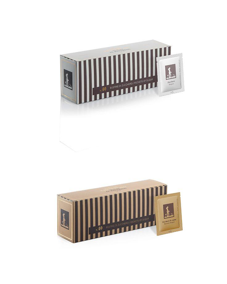 Progettazione confezioni per le bustine di zucchero del bar Antigua Tazza D'oro. #packaging #design