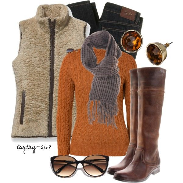 """Pumpkin Seed"" great fall outfit"