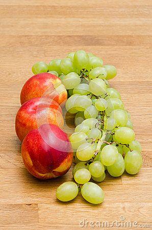 #peach #grapes