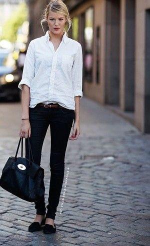 白シャツの着こなし!春夏おすすめコーデ(レディース海外特集) | Lifeinfo!
