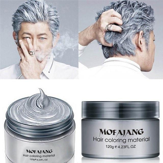 Fashion Hair Styling Pomade Silver Ash Hair Dye