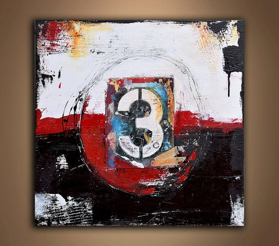 NUMBER ART Painting Abstract Art Canvas Wall art by erinashleyart
