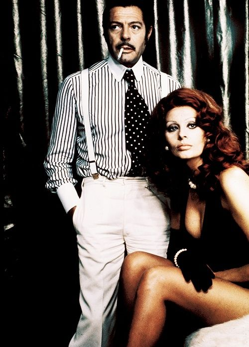 Marcello Mastroianni and Sophia Loren.