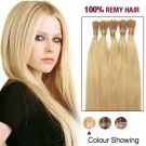 """18"""" Ash Blonde(#24) 100S Stick Tip Remy Human Hair Extensions"""