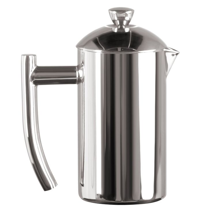 Frieling USA Double Wall Stainless Steel French Press Coffee Maker with Patented Dual Screen, Polished, 8-Ounce