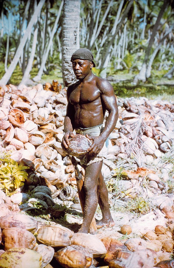 """A Chagossian, known as """"Samson"""", photographed by a US National Geodetic Survey team in 1969"""