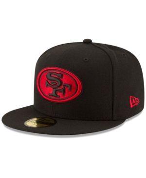 New Era San Francisco 49ers Team Basic 59FIFTY Fitted Cap - Black 7 1/2
