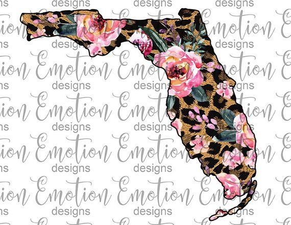 Florida State Png Instant Download Leopard Print Flowers Etsy Things To Sell Instant Download Florida State