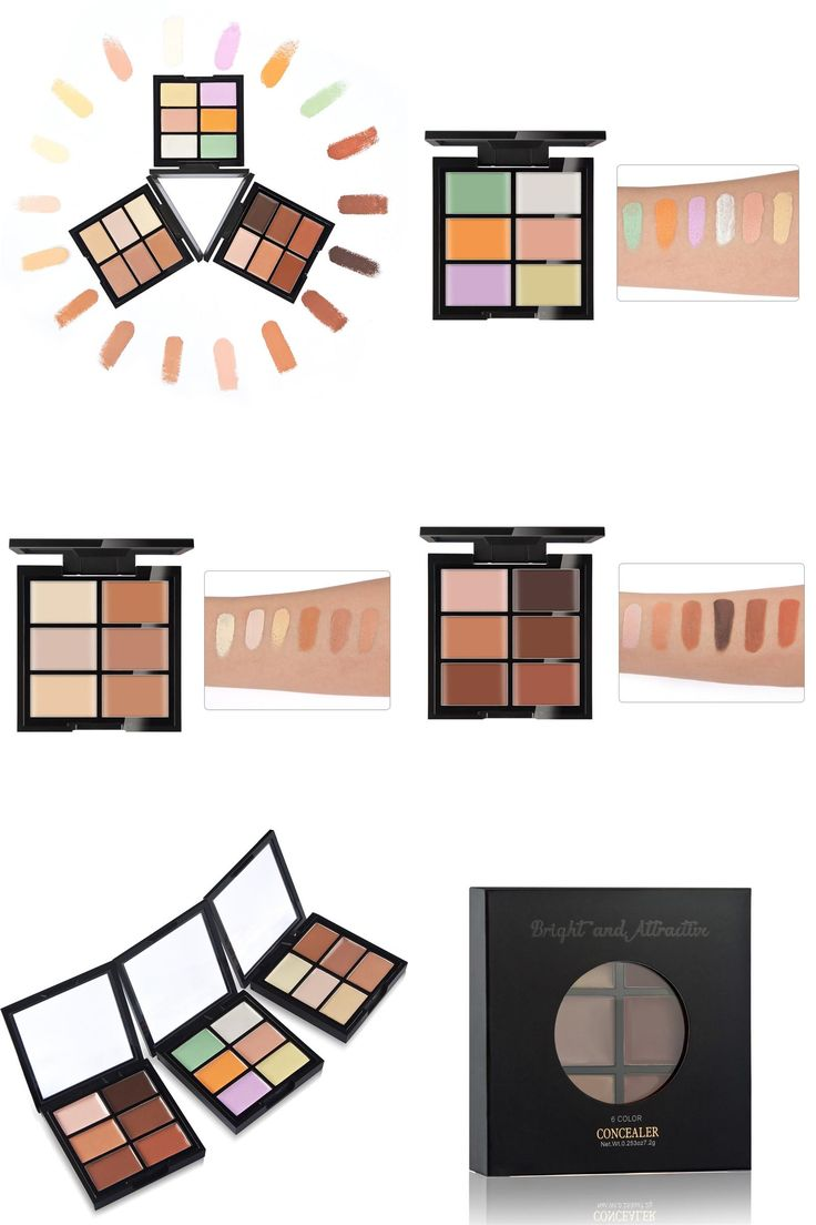 [Visit to Buy] 6 Colors Camouflage Concealer For Dark Skin Full Cover Corrector Face Contour Highlighter Cream Concealer Palette Professional  #Advertisement