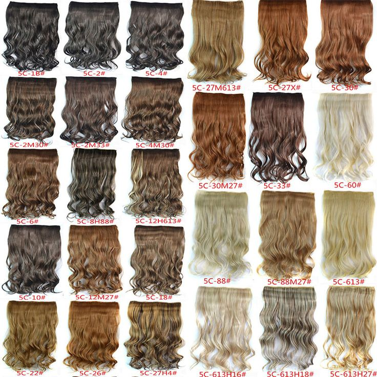 1PC+120G Woman Curly Clip In Hair Extension 29 Colors One Piece For Full Head Long Wavy Curly Hair Extension Hairpieces Hairdo