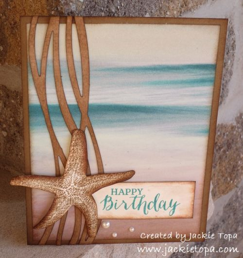 2016  The supplies for this card are all from Stampin' Up; Swirly Scribbles Thinlits, Rose Wonder Stamp Set, Basic Pearls, Bermuda Bay, Crumb Cake and Soft Suede Classic Inks and Serene Scenery DSP Stack
