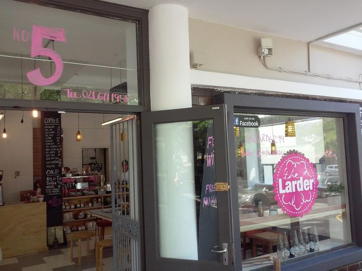 New coffee shop in Claremont (The Larder), opposite Absa just outside Cavendish Square