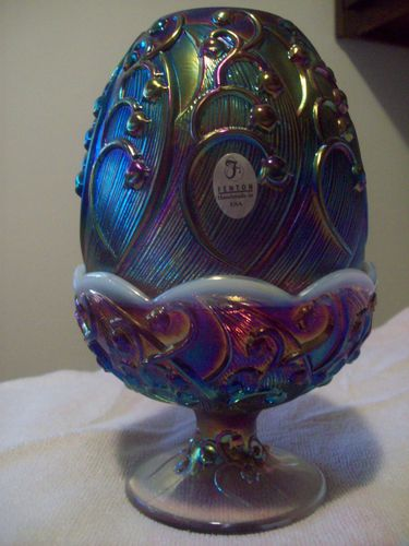 Fenton Carnival Glass Fairy Lamp... Cranberry Opalescent, Lily of the Valley           gorgeous!