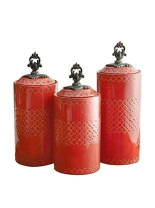 American Atelier Set of 3 Canisters (Red)