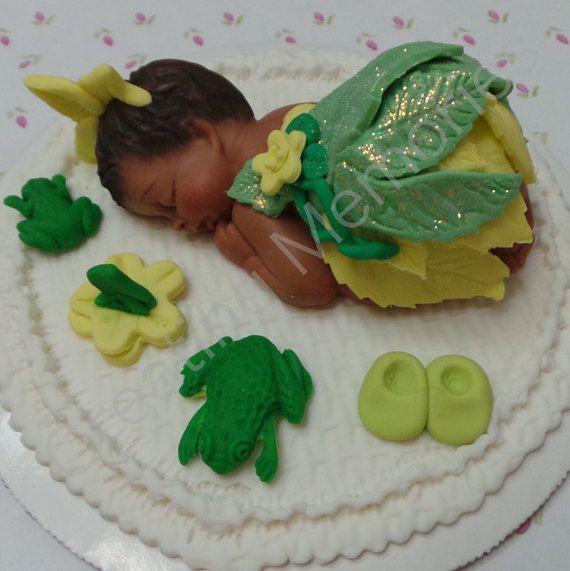 PRINCESS Tiana baby shower cake topper made of vanilla by anafeke