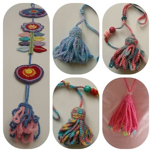 Crochet tassels - photo tutorial.