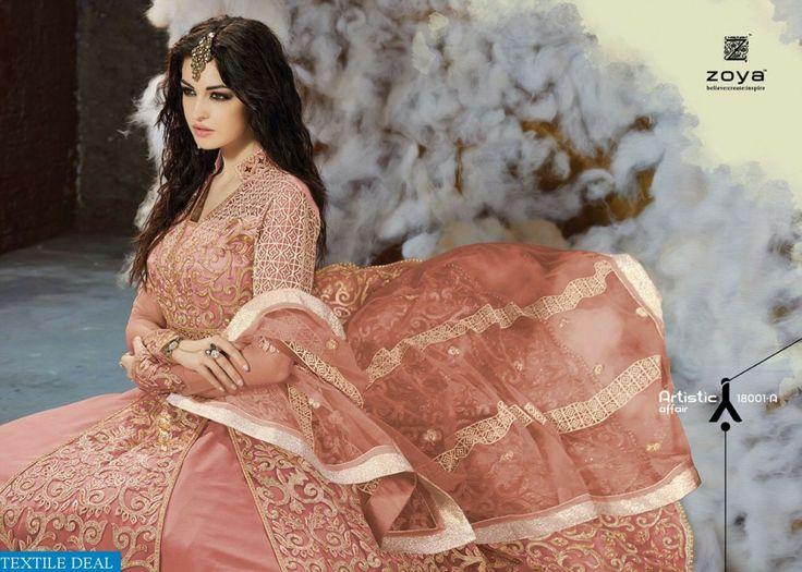 Shop Now Zoya Color Magic Designer Bridal #EthnicSuits with Best Rate from @Textiledeals