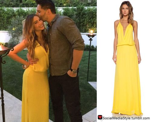 Buy the yellow maxi dress that Sofia Vergara wore on her Birthday, here!