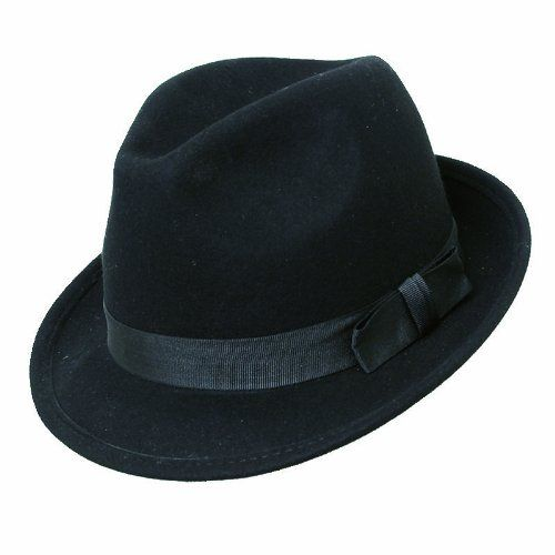 150 kr. GENT'S SMART FELT TRILBY HAT WITH MATCHING BAND - 100% WOOL (58cm, BLACK) VIZ http://www.amazon.co.uk/dp/B00EDN5CIA/ref=cm_sw_r_pi_dp_UDi3wb1ADV6WW