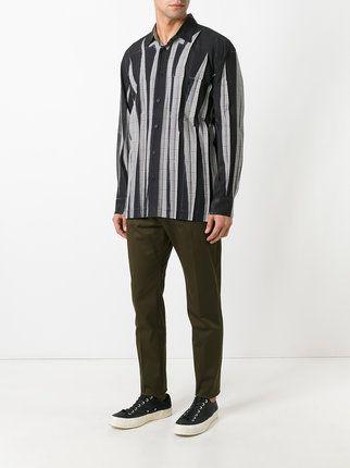 Shirt Issey Miyake mens | Issey Miyake Men Wrinkled Effect Shirt - Farfetch
