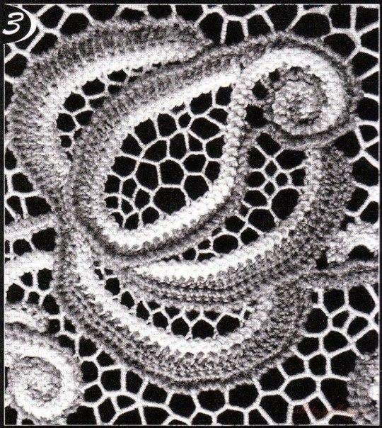 Ирландские цветы из шнура «гусеничка». Схемы вязания крючком