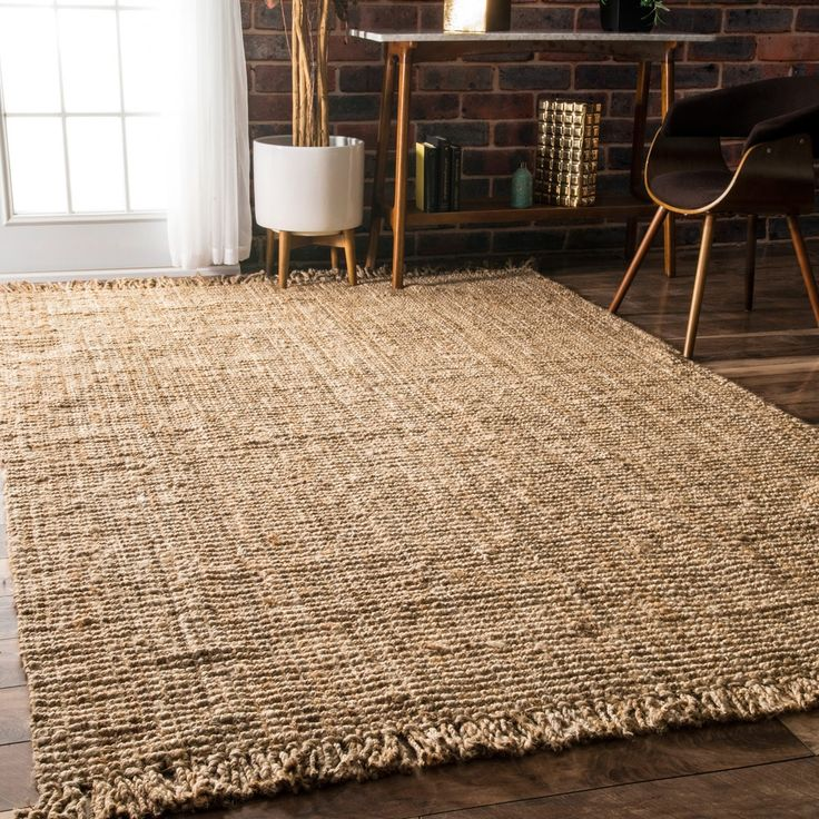 nuLOOM Handmade Eco Natural Fiber Chunky Loop Jute Rug (7'6 x 9'6) - Free Shipping Today - Overstock.com - 13021239 - Mobile