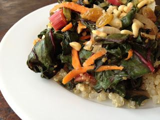 http://nicoleburley.com/articles/chef-scott-for-meatless-monday-sauteed-swiss-chard-with-leeks-and-golden-raisins