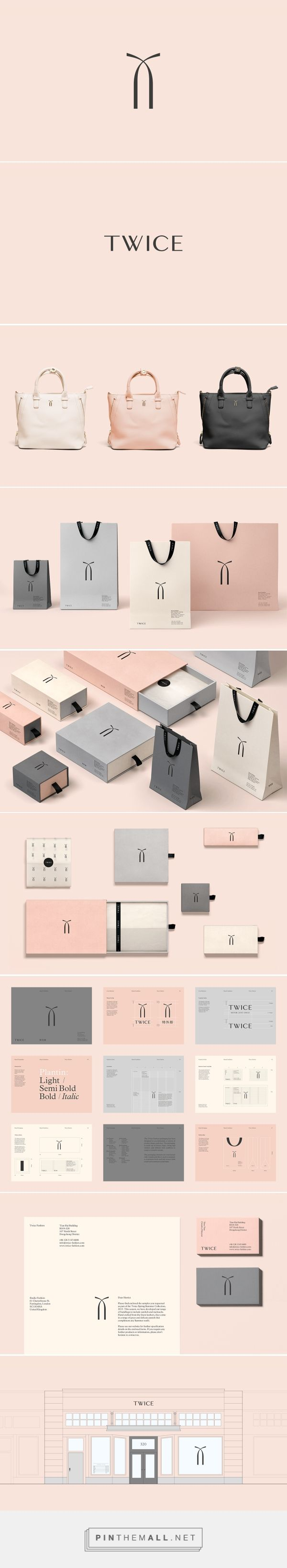 Twice Fashion packaging branding on Behance by Socio Design curated by Packaging Diva PD. A Chinese fashion accessories brand formed by Tina Tian and Dr Mirko Wormuth in Beijing. Isn't this pretty?