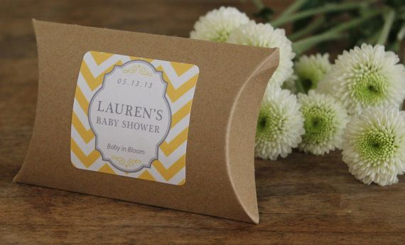 36 - Personalized Flower Seed Favors - ANY COLOR - Chevron Design -  bridal shower favors, wedding favors, party favors, baby shower favors on Etsy, $72.00