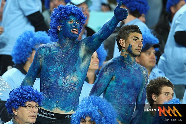 NSW State of Origin Game One Fans -TripleM 2012.  ** Blatchey's Blues! I've been a Blatchey's Blue at ANZ Stadium!