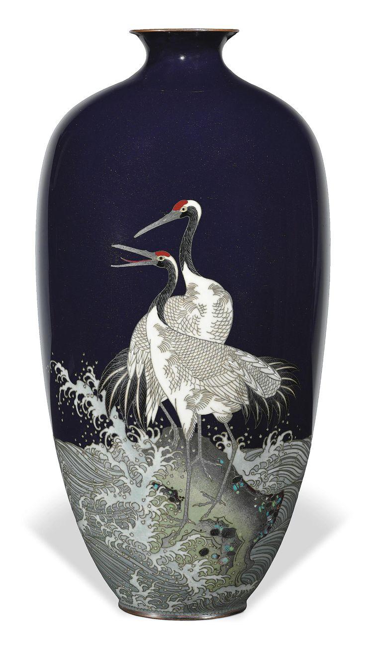 A Cloisonné Vase | MEIJI PERIOD (LATE 19TH CENTURY) | birds, All other categories of objects | Christie's | Antique vase, Porcelain art, Japanese antiques