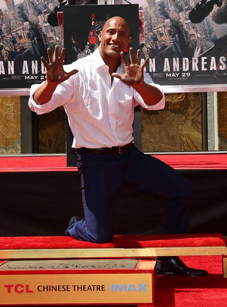 Dwayne 'The Rock' Johnson Honored At TCL Chinese Theatre With Daughter Simone Alexandra Johnson + Amber Rose Shops With Bash