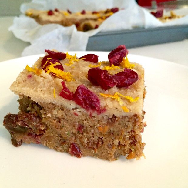 Raw Courgette and Carrot Christmas Cake