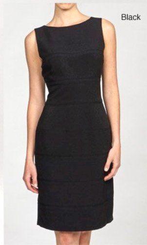 a737570acfa NEW Calvin Klein Women s BLACK size 6 Sleeveless Sheath Dress CD0X1QR7   fashion  clothing