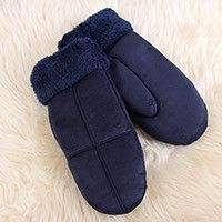 REALBY Winter women Gloves WarmMittensSuedeThickGloves Adult Apparel Accessories solid Rope Mittens luvas feminina luva A1092
