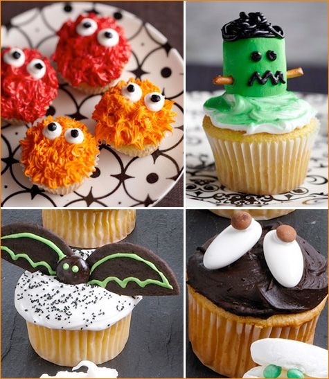 modern halloween cookies cupcakes