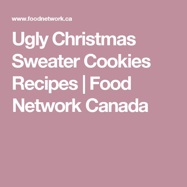 Ugly Christmas Sweater Cookies Recipes | Food Network Canada