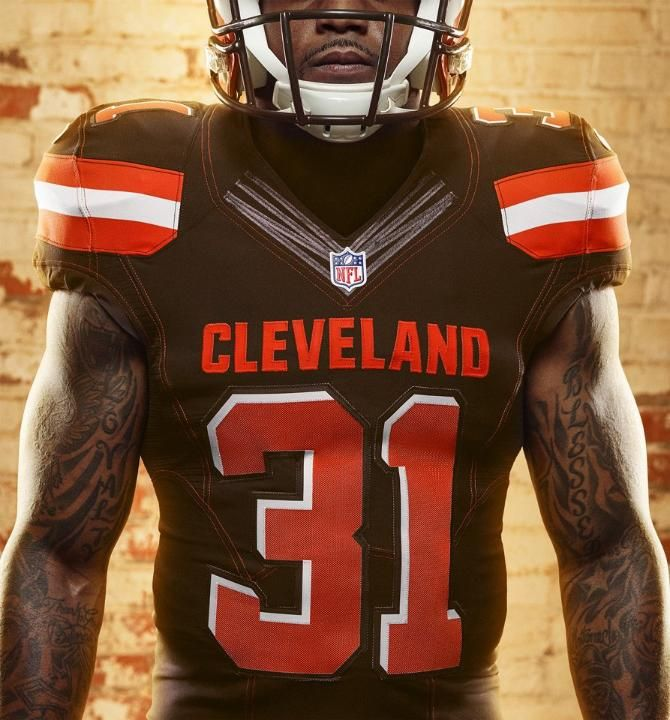 NFL Jersey's Pro Line Women's Cleveland Browns Tashaun Gipson Team Color Jersey