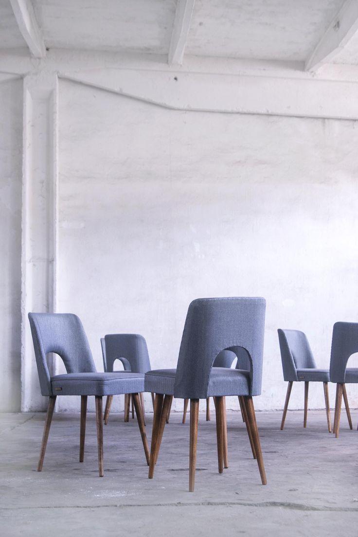 Chair design. Shell chair. Polish design. Krzesło muszelka.Lata 60. Eenowacja: Lekka Furniture